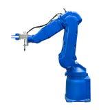 蓝色产业机器人胳膊隔绝了包括的裁减路线 库存照片