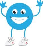蓝色人微笑 库存照片