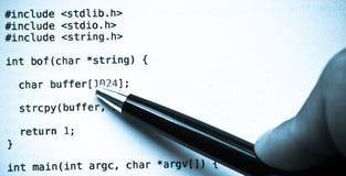 蓝色代码语言编程的色彩 免版税库存照片