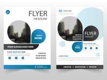 蓝色企业小册子传单飞行物年终报告模板设计,书套布局设计,抽象企业介绍 图库摄影