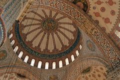 蓝色伊斯坦布尔清真寺火鸡 库存照片