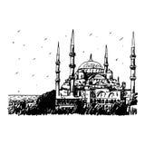蓝色伊斯坦布尔清真寺火鸡 皇族释放例证
