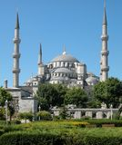 蓝色伊斯坦布尔清真寺火鸡 免版税图库摄影