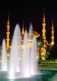 蓝色伊斯坦布尔清真寺 图库摄影