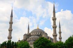 蓝色伊斯坦布尔清真寺 免版税库存图片