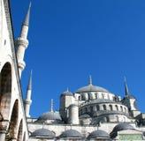 蓝色伊斯坦布尔清真寺 库存图片