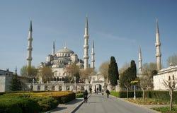 蓝色伊斯坦布尔清真寺sultamahmet 免版税库存图片