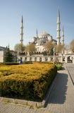 蓝色伊斯坦布尔清真寺sultanahmet视图 免版税库存图片
