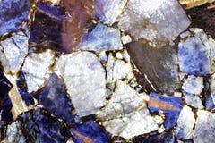 蓝色优越自然石材料 图库摄影
