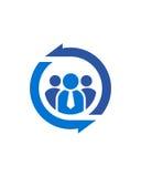 蓝色伙伴摘要业务保险摘要 免版税库存照片