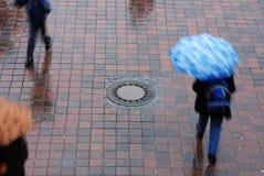 蓝色伞 免版税图库摄影