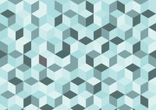 蓝色传染媒介摘要背景,在方形的样式的几何背景 库存图片