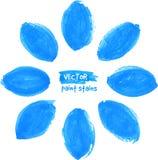蓝色传染媒介标志弄脏花 免版税库存图片