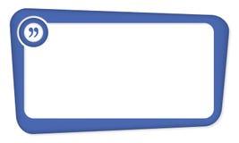 蓝色传染媒介箱子 皇族释放例证