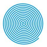 蓝色传染媒介螺旋 皇族释放例证