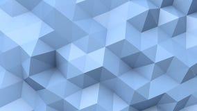 蓝色低多纹理 库存例证