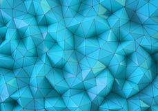 蓝色低多背景 免版税库存图片