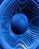 蓝色低音扬声器 库存图片