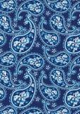 蓝色佩兹利样式 免版税库存照片