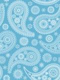 蓝色佩兹利模式 免版税库存照片