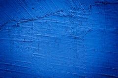 蓝色使墙壁纹理变暗 免版税库存照片