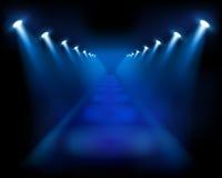 蓝色例证台阶向量 库存照片