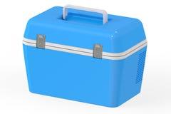 蓝色便携式的致冷机, 3D翻译 向量例证