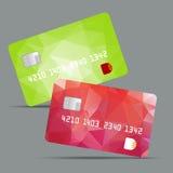 蓝色信用卡传染媒介例证,高度 免版税图库摄影