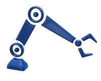 蓝色修理机器人手 免版税库存图片