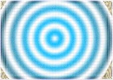 蓝色催眠漩涡摘要背景 免版税库存照片