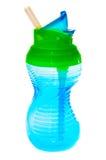 蓝色儿童的杯子 免版税库存照片
