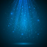 蓝色光亮的不可思议的轻的传染媒介背景 免版税图库摄影