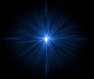 蓝色光亮的星形 皇族释放例证