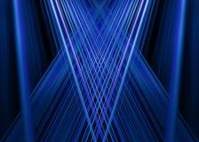 蓝色光束背景 库存图片