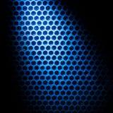 蓝色光点燃的磁泡线厘 免版税库存照片