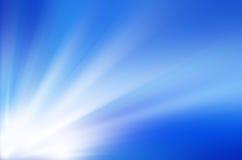 蓝色光爆炸 免版税库存图片