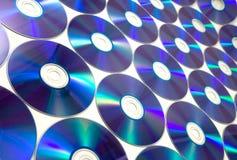 蓝色光盘光芒 免版税库存图片