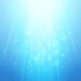 蓝色光线 被弄脏的传染媒介bokeh 库存照片