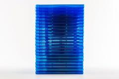 蓝色光芒圆盘箱子。 免版税库存照片