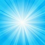 蓝色光芒背景 库存照片