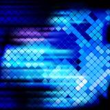 蓝色光芒轻的马赛克背景 免版税图库摄影