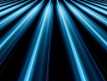 蓝色光芒 向量例证