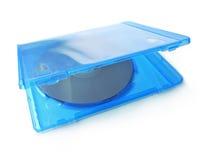 蓝色光芒DVD CD包装 免版税库存照片