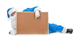 蓝色克劳斯服装圣诞老人 免版税库存图片