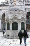 蓝色入口伊斯坦布尔清真寺 免版税库存照片