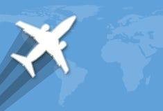 蓝色全球旅行 库存照片