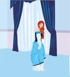 蓝色公主 免版税图库摄影