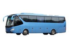 蓝色公共汽车黑暗游览 免版税库存图片