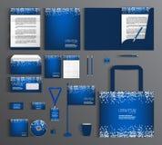 蓝色公司本体 设置与白色圈子的样式 向量例证