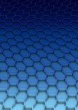 蓝色六角形 免版税库存照片